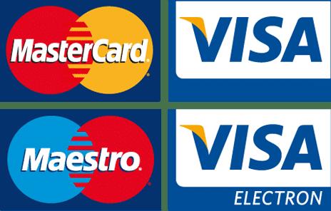 Ital rendelés online, alkoholos italok házhozszállításal Budapesten - Elfogadott bankkártyatípusok